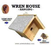 Wren House Light Gray Roof hanging