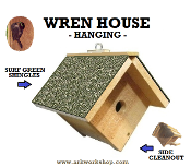 Wren House Surf Green Roof hanging