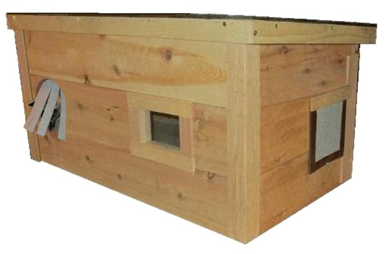 large warm insulated outdoor cat house homes for feral strays ark workshop