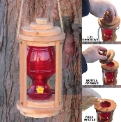 Ark Workshop Wood Lantern Hummingbird Feeder