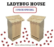 Ladybug House 2 PACK Shaker Shngle Roof