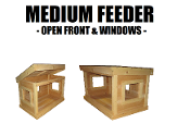 Medium Feeding Shelter Open Front Windows
